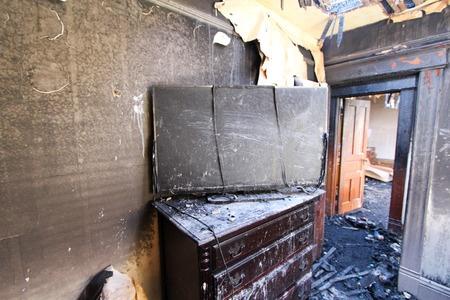 44009677 - burned tv in bedroom.
